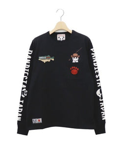 [PANDIESTA JAPAN] Fishing Panda Long Sleeve Tee - sukajack