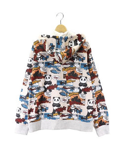 [PANDIESTA JAPAN] Full pattern full zip hoodie - sukajack