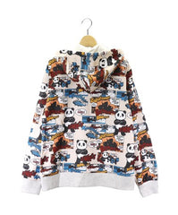 [PANDIESTA JAPAN] Full pattern full zip hoodie