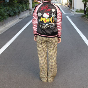 [SANRIO] Airplane Hello Kitty Souvenir Jacket - sukajack