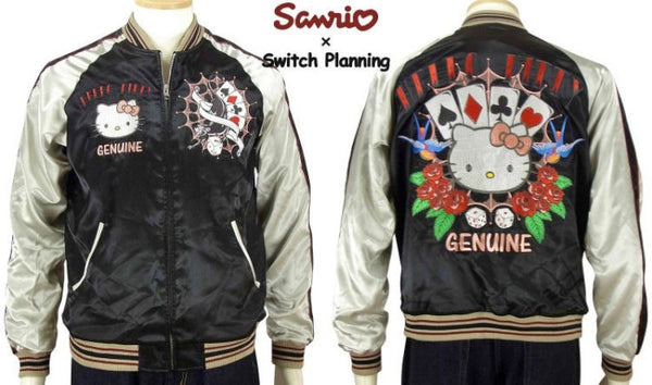 [SANRIO] Trump Hello Kitty Souvenir Jacket - sukajack