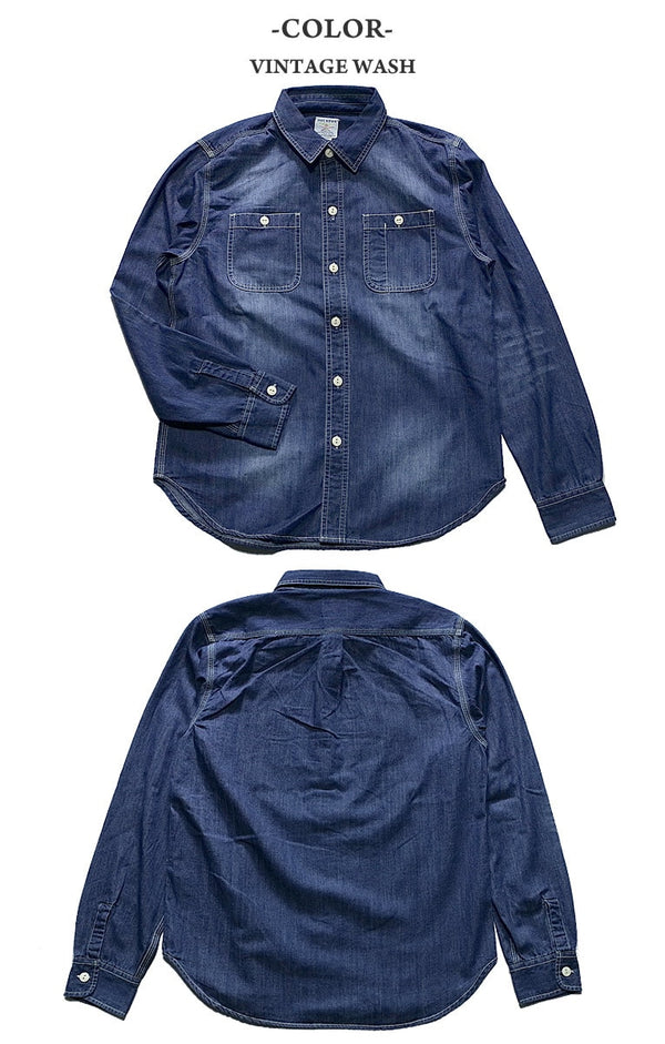 [HOUSTON] 45th ANNIV. DENIM WORK SHIRTS - sukajack