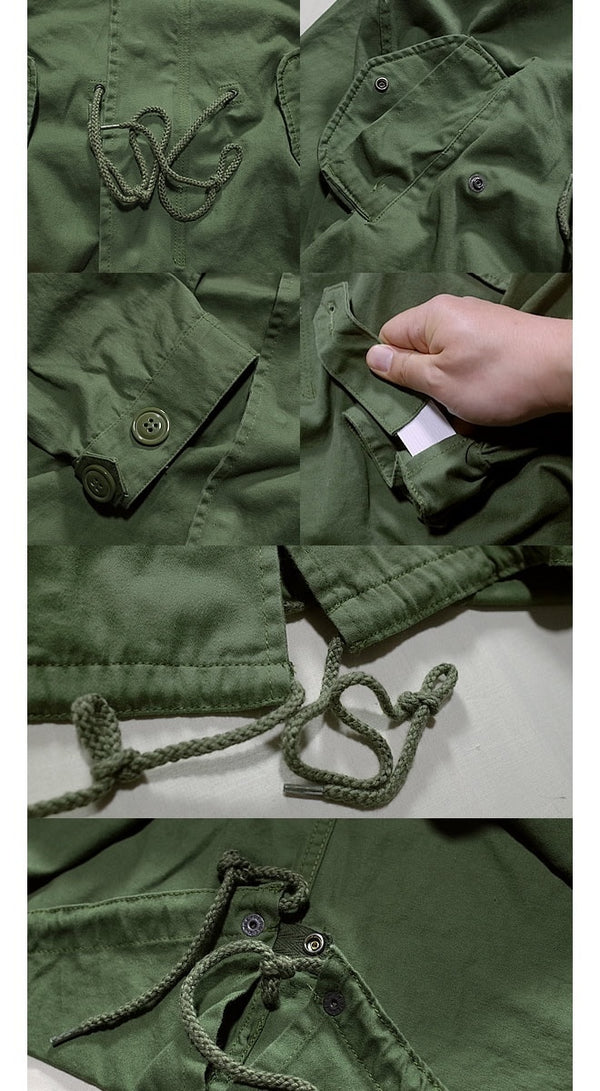 [HOUSTON] M-51 LIGHT PARKA Mods Coat OLIVE DRAB - sukajack