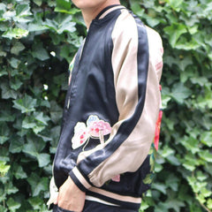 [HANATABIGAKUDAN] Peony and Butterfly Reversible Souvenir Jacket