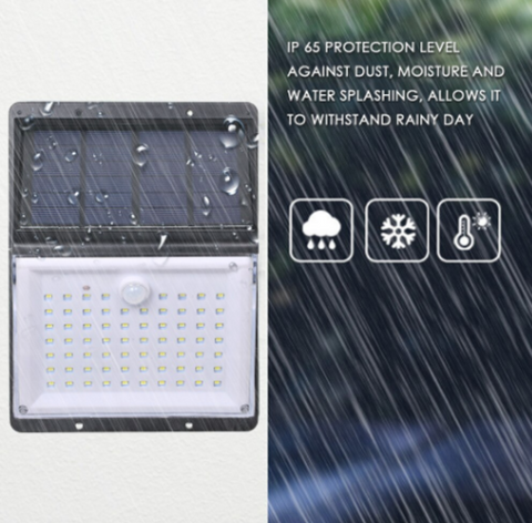 Motion sensor shown in rain