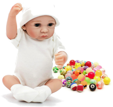 realistic doll with toys