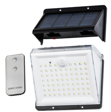 Motion sensor 3 parts: soloar panel, LED light unit, remote