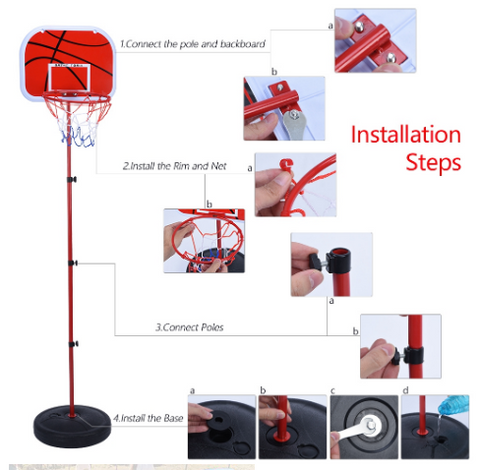 Basketball Hoop Set installation in 4 steps