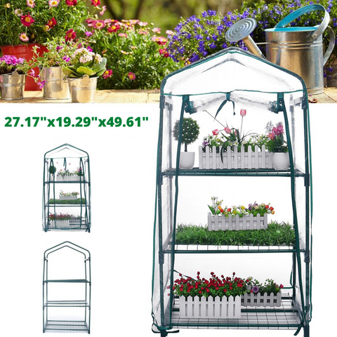 Greenhouse holding plants with inserts: garden and greenhouse frame without plants
