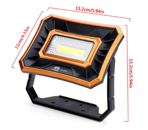 Work light lantern featuring dimensions: 4.33 x 5.94 x 5.94 inches