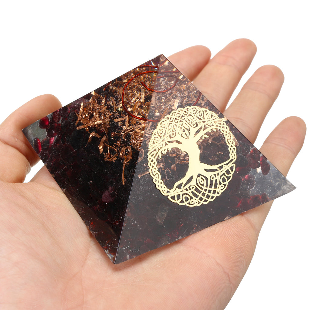 Pyramid Energy Copper Gemstone for Meditation Yoga Reiki Emf Protection