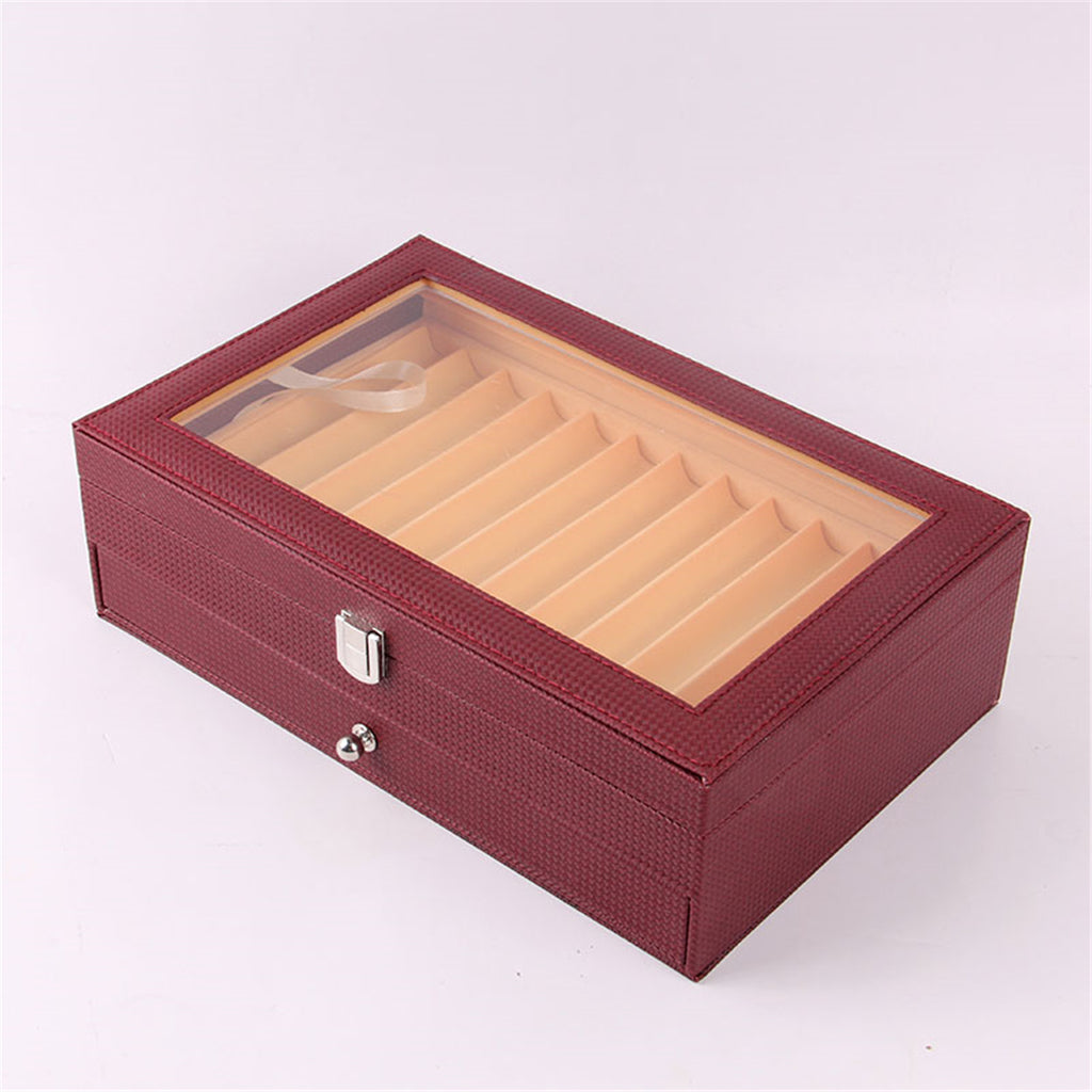 Fountain Pens Display Case Collector Box and Desktop Storage Organizer