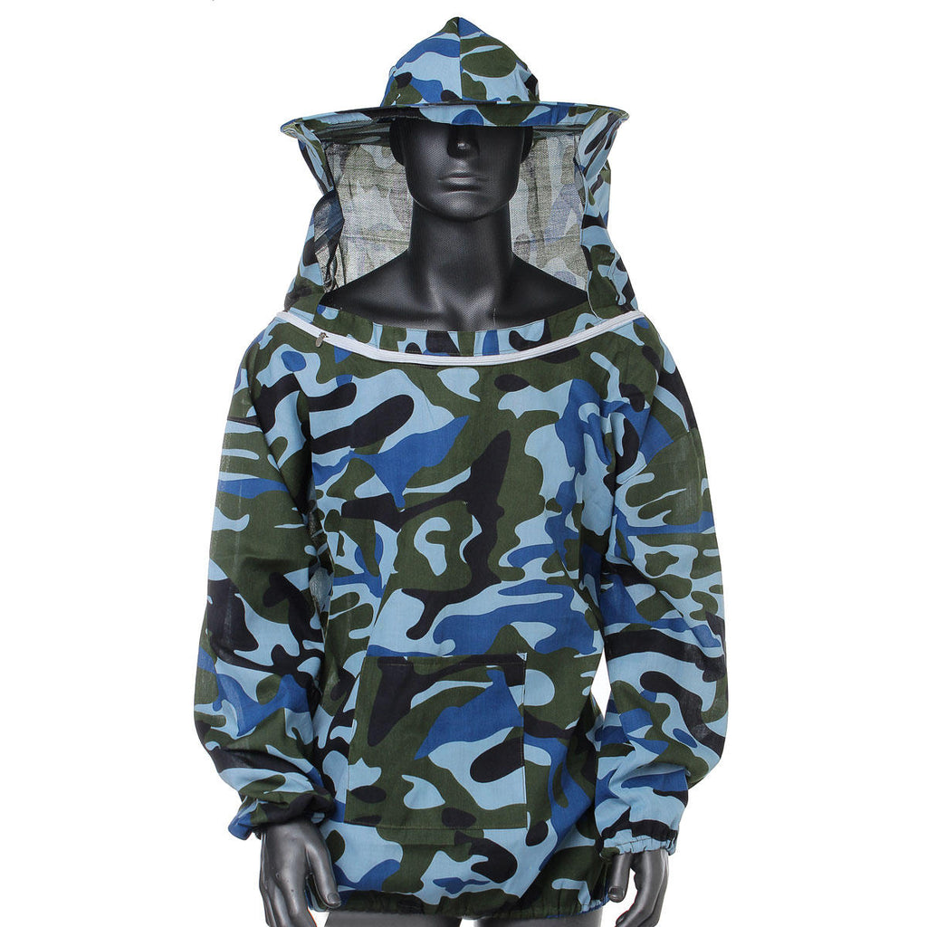 Beekeeper veil hat jacket in Camouflage Blue