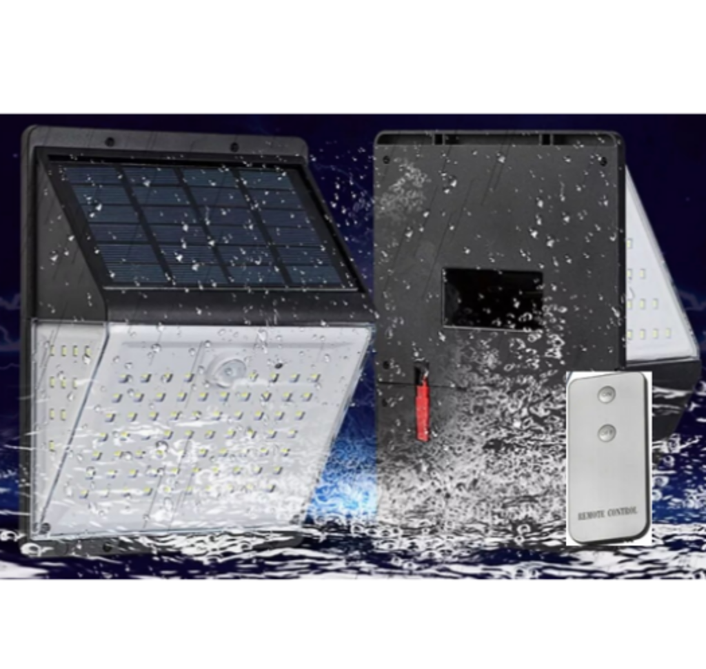 Waterproof Solar Power Motion Sensor in heavy rainfall