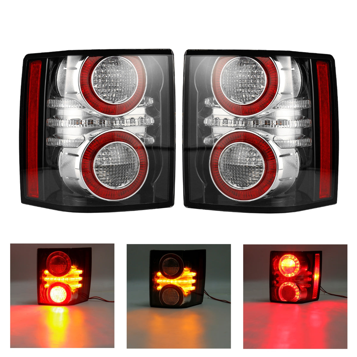 Land Rover Range Rover 2010-2012 Rear Tail Lights Assembly with LED Bulbs