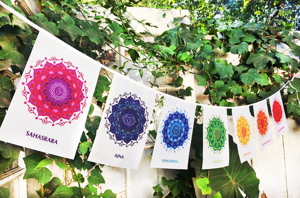 """ 7 CHAKRAS "" Prayer Flag"