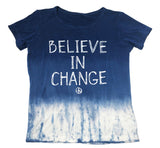 "Deep Blue ""Believe in Change"" Organic Boys Shirt"