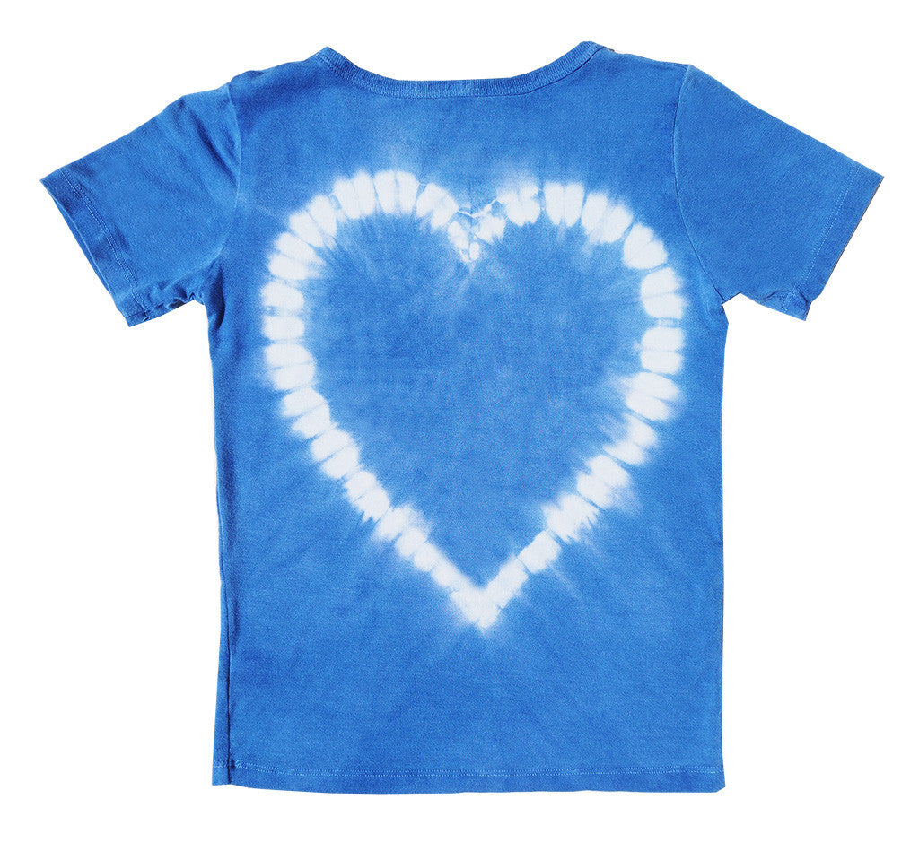 Blue Back Heart Girl Shirt