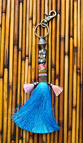 Sky Blue Tassel Adornment