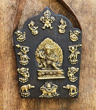 Carved Wooden Vajrapani Buddha Art Wall Hangings