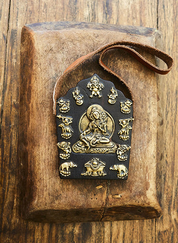 Carved Wooden Green Tara Buddha Art Wall Hangings