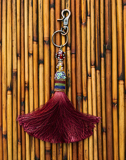 Rich Burgundy Tassel Adornment
