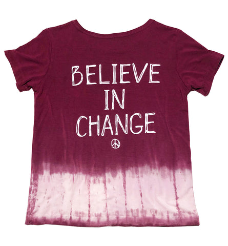 """Believe in Change"" Organic Girls T-shirt"