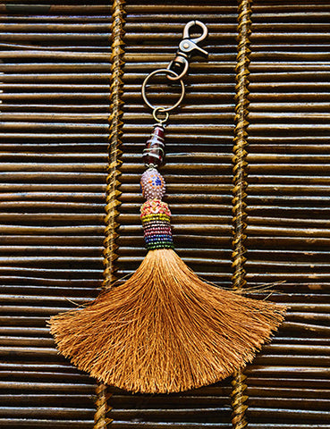 Golden Yellow Tassel Adornment