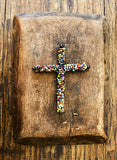 Colorful Handcrafted Beaded Cross