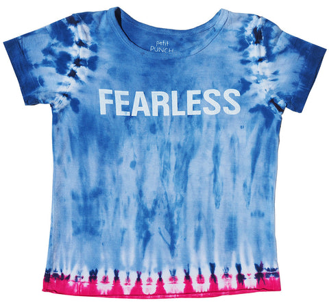 Fearless Blue & Red Girls Shirt