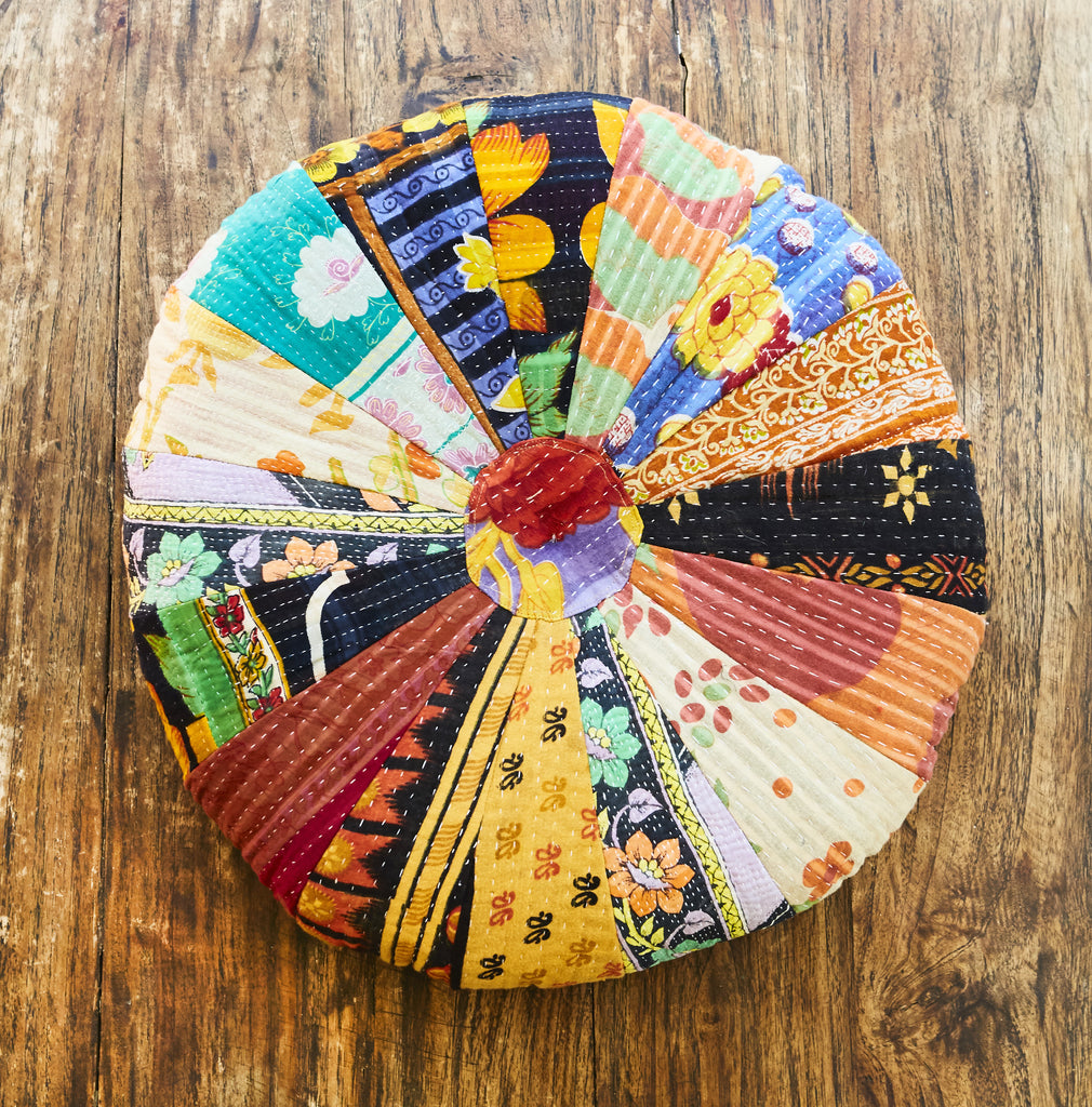 Vintage Patchwork Printed Pillow