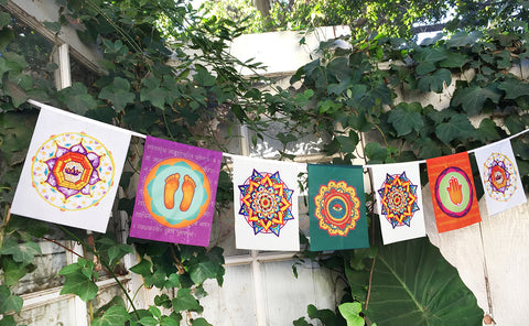 """ LOTUS MANDALA "" Prayer Flag"