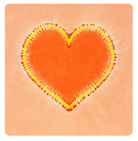 Orange Crush Heart Mini Throw