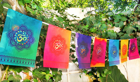 """ OM "" Prayer Flag"