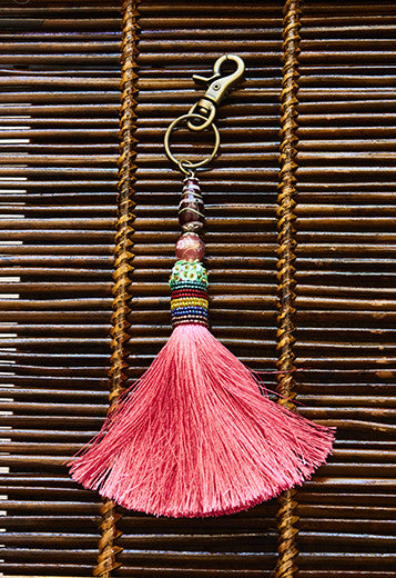 Pink Tassel Adornment