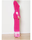 Awakened Heart Pink Wide Leg Lounge Set