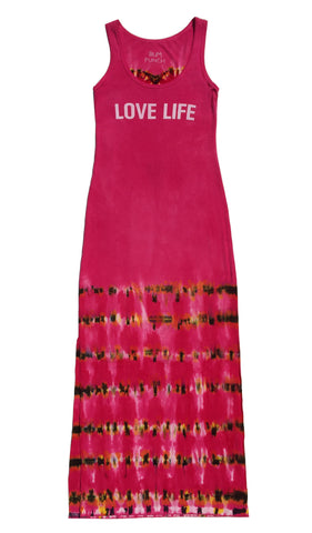 """Love Life"" Raspberry Heart Long Dress"