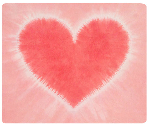 Sweetest Pink Heart Baby Bamboo Mini Throw
