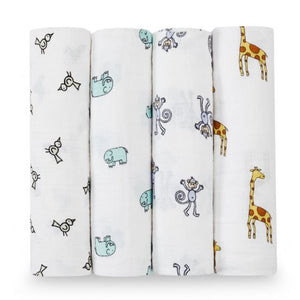 Aden + anais jungle jam Classic Swaddle - 4 Pack