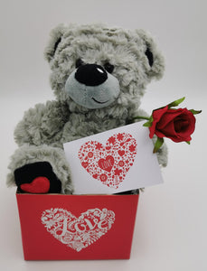 Love Bear and Rose