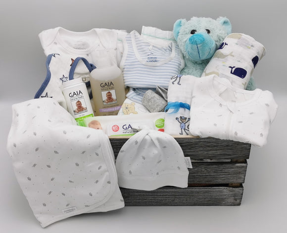 Ultimate Baby Hamper with Bear - Baby Blue