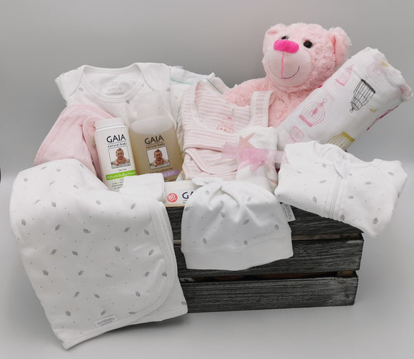 Ultimate Baby Hamper with Bear - Baby Pink