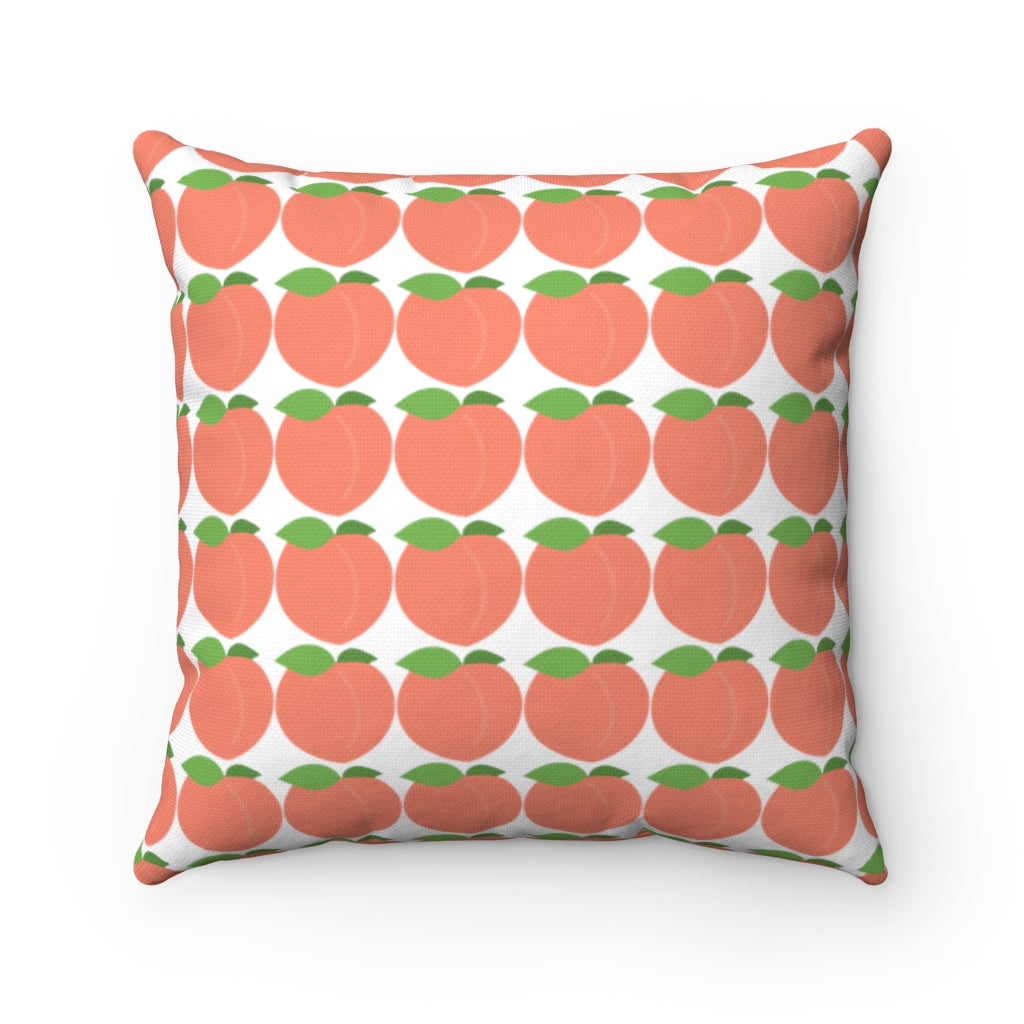 Peach Square Pillow