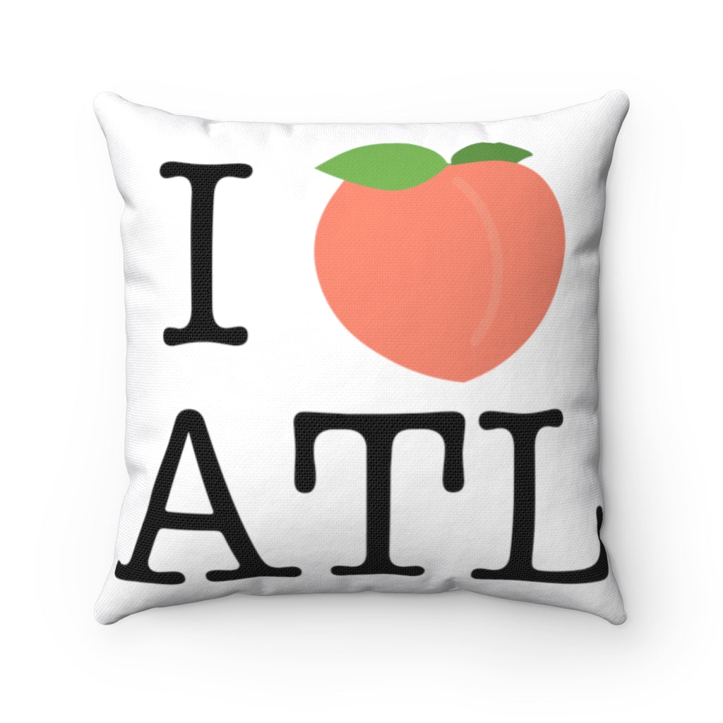 I Peach ATL Square Pillow