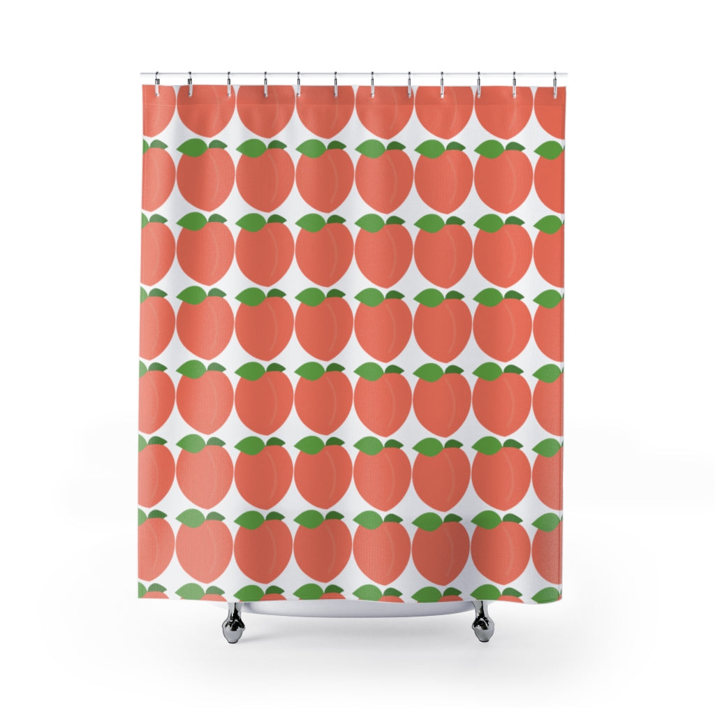 Peaches Shower Curtains