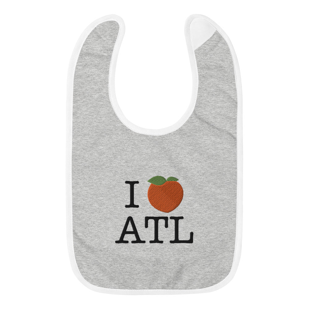 I Peach ATL Embroidered Baby Bib
