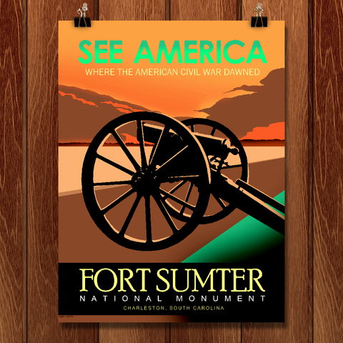 Fort Sumter National Monument, Charleston, S.C. by Robert Proctor for See America - 1