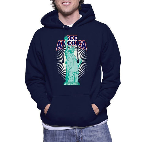 Statue of Liberty National Monument Hoodie by Don Henderson for See America - 1