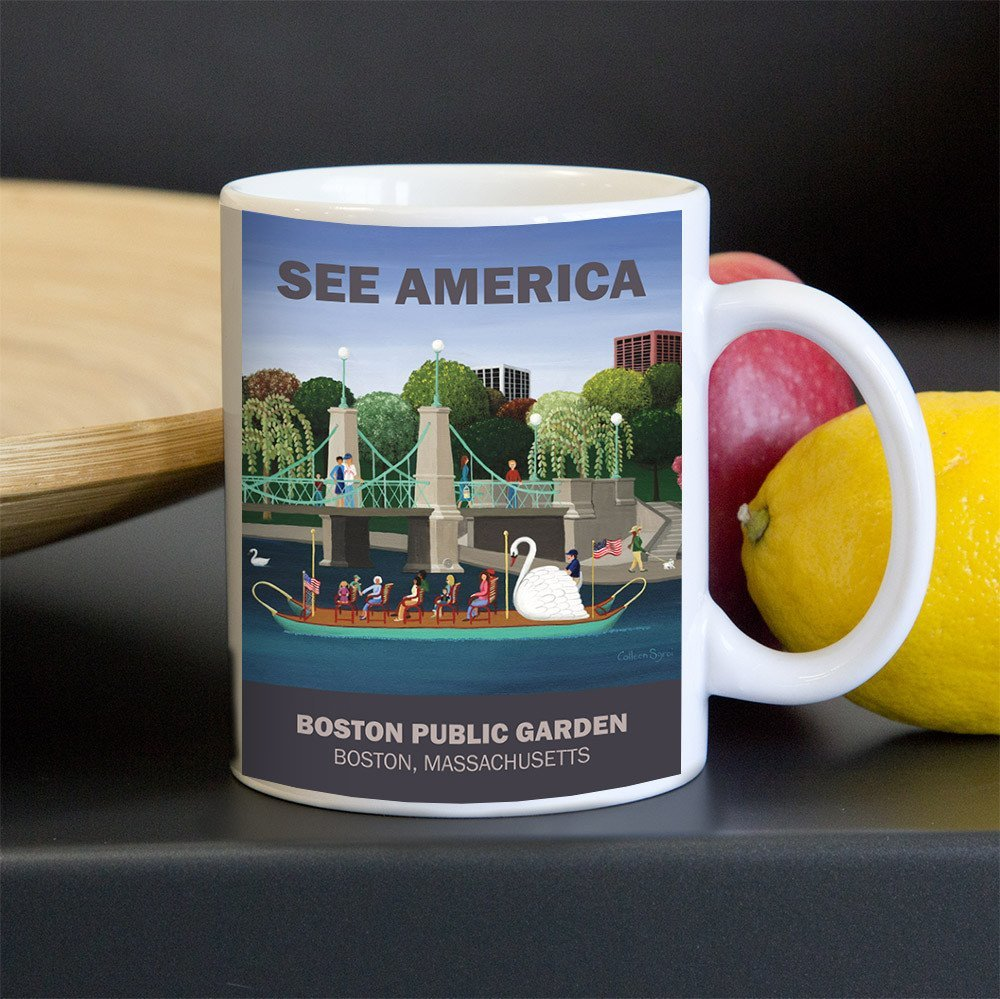 Boston Public Garden Mug by Colleen Sgroi for See America