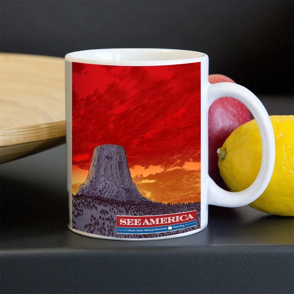 Devils Tower National Monument Mug by Brixton Doyle for See America